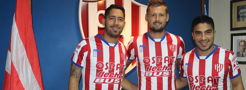 Acevedo, Faccioli y Rodríguez, jugadores de Unión