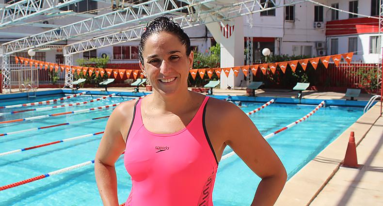 Pilar Geijo entrena en el Natatorio de Unión